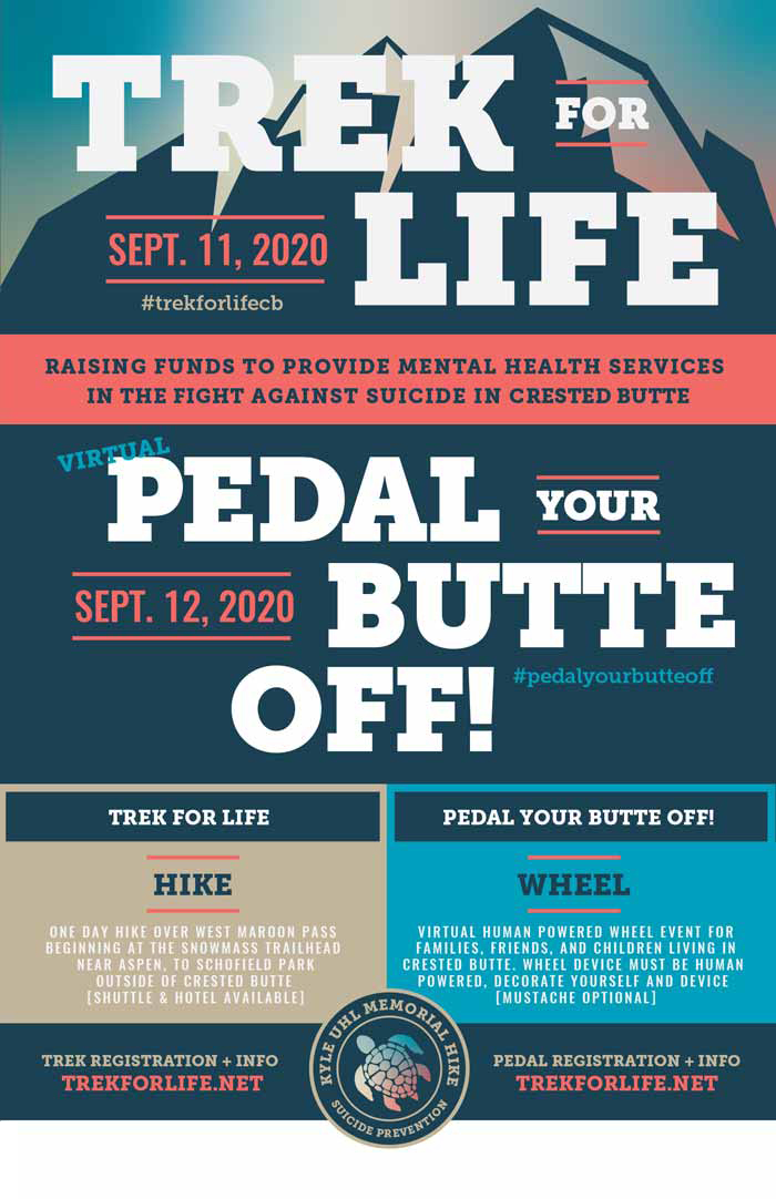 2020 Trek For Life and Pedal Your Butte Off! event in Crested Butte, Colorado on September 12, 2020